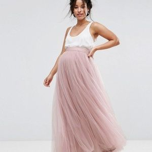 Pink Tulle Maternity Maxi Skirt ASOS